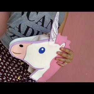 Dolls Kill Bags - Unicorn Emoji Purse 🦄